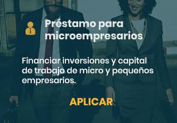 Prestamo para microempresarios